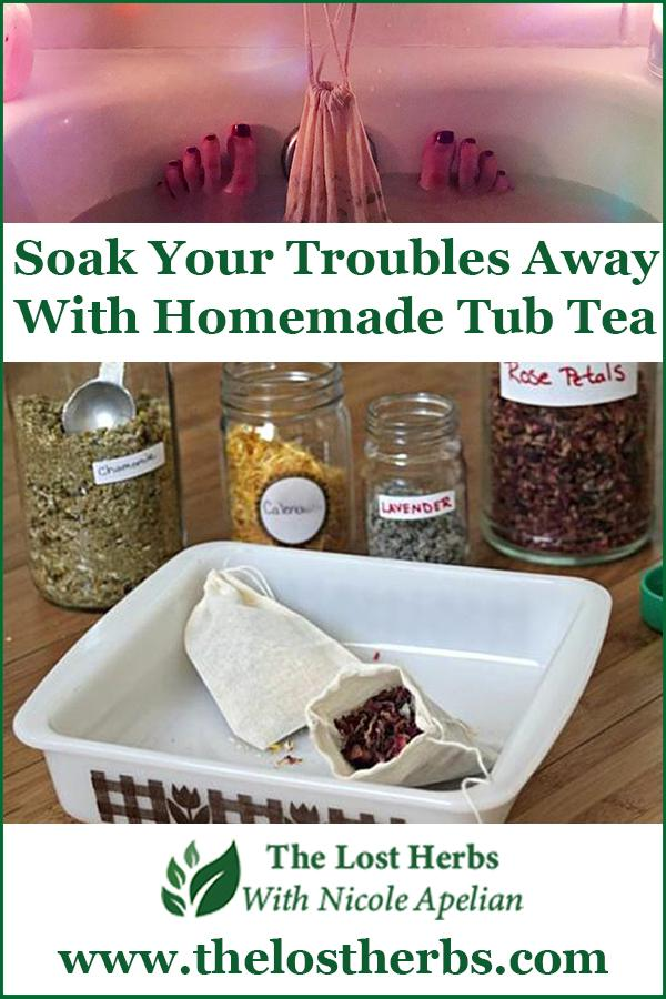 Soak Your Troubles Away with Homemade Tub Tea - Pinterest