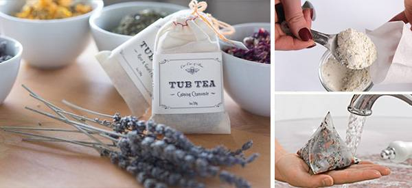Soak Your Troubles Away with Homemade Tub Tea