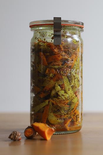 How To Make Medicinal Pickled Turmeric - Jar
