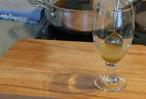 How To Make A Horseradish Tonic For Nasal Congestion - Infused Honey Step 3