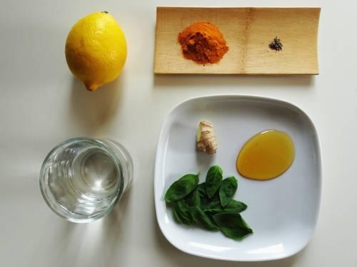 Turmeric Lemonade - ingredients