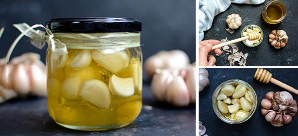 Homemade Fermented Honey Garlic