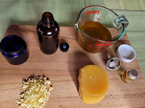Infusing Oil with Calendula Next Day- Ingredients