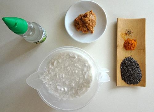 Anti-Inflammatory Turmeric ice cream - With Coconut Milk - Ingredients