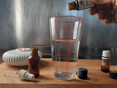 DIY Bug-Off Spray Step 4 - Thyme Oil