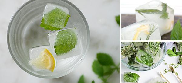 How to Make Herbal Ice Cubes