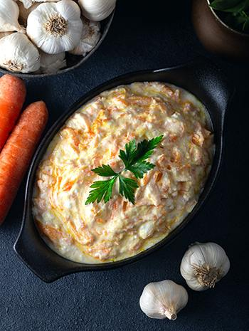 Medicinal Foods - 10 Recipes to Bring Lasting Health -Carrot Garlic Dip